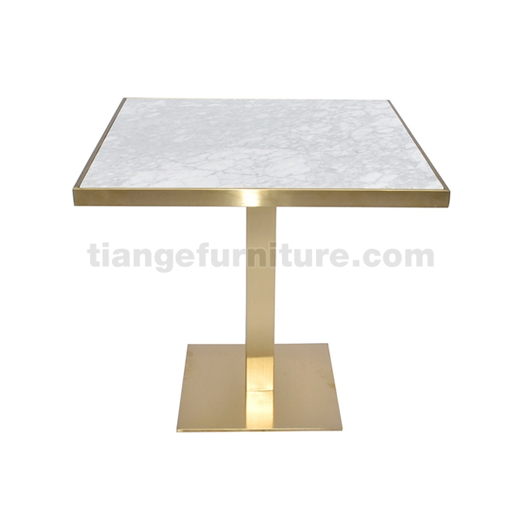 Square Gold marble top dining table