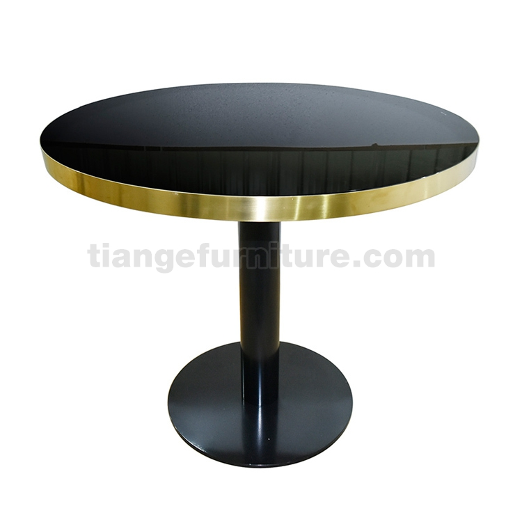 gubi brass black glass dining table