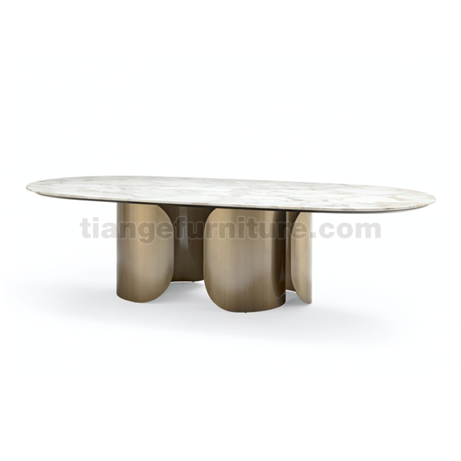 Light luxury dining table
