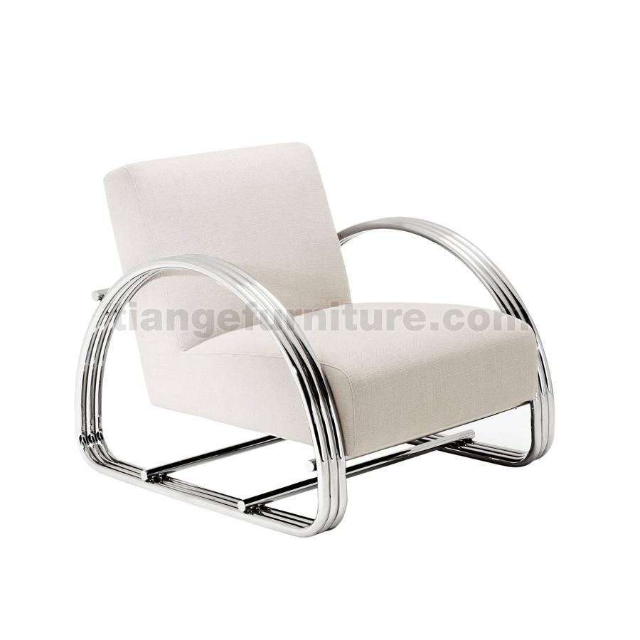 light luxury style velvet lounge chair