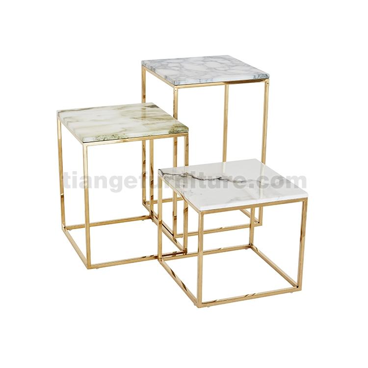 Square Metal Side Table Set