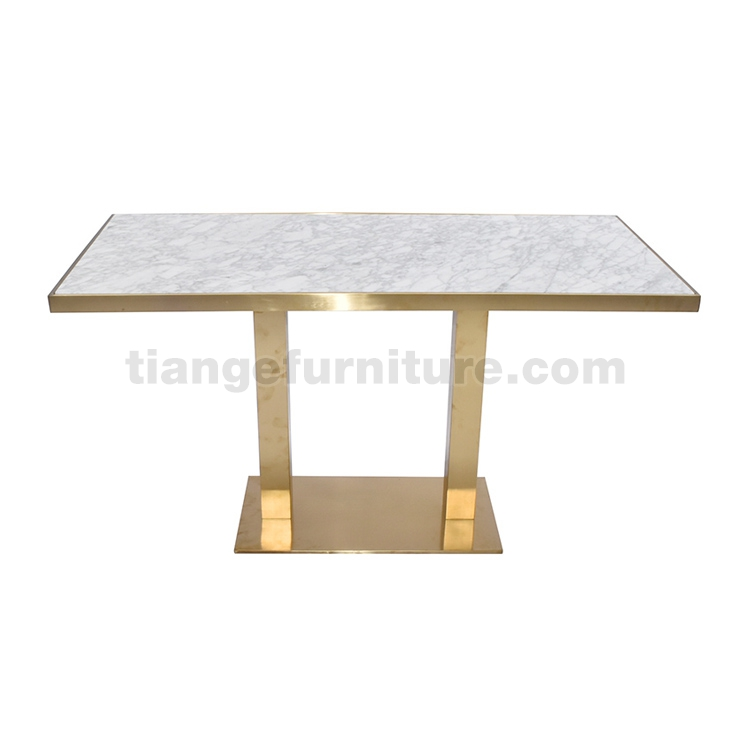 Brass Mable Top Dining Table