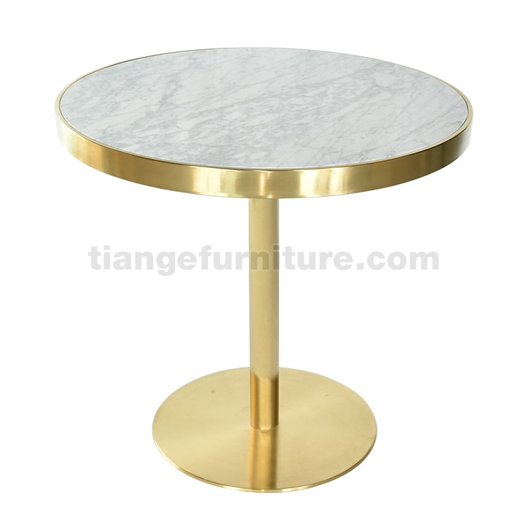 Gubi brass Marble Round Dining Table