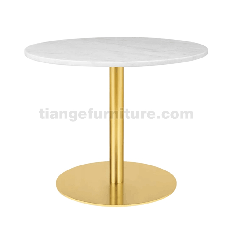 Gubi round Marble Top dining Table